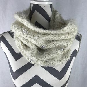 Betsy Johnson Embellished Bling Infinity Scarf